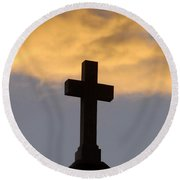 Cross And Sky Round Beach Towel
