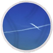 Cross In The Sky Round Beach Towel