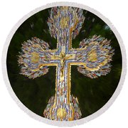 Cross Of The Epiphany Round Beach Towel