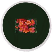 Cross Vine 2 Round Beach Towel