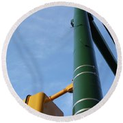 Cross Walk Pole Round Beach Towel