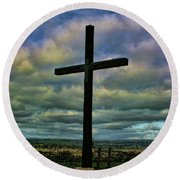 Cross Without Words Round Beach Towel