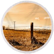 Crossed Wires Round Beach Towel