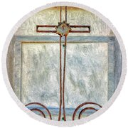 Crosses Voided - Artistic Round Beach Towel