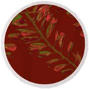 Crossing Branches 15 Round Beach Towel