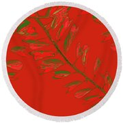 Crossing Branches 16 Round Beach Towel