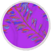 Crossing Branches 19 Round Beach Towel