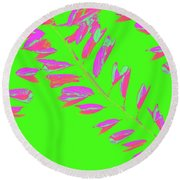Crossing Branches 9 Round Beach Towel