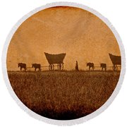Crossing Kansas Round Beach Towel