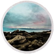 Crossing Over Round Beach Towel