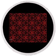 Crossing The Line Abstract  Round Beach Towel