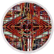 Crossing To Eye V 3 Round Beach Towel