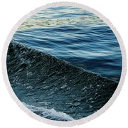 Crossing Waves Round Beach Towel