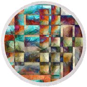 Crossover Abstract Pencil Round Beach Towel
