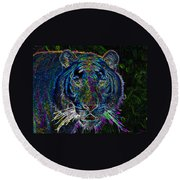 Crouching Tiger Round Beach Towel