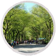 Crowded Spring Morning Round Beach Towel