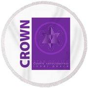 Crown Chakra Series Three Round Beach Towel