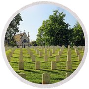 Crown Hill National Cemetery, Indianapolis, Indiana Round Beach Towel