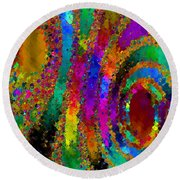 Crown Jewels Round Beach Towel