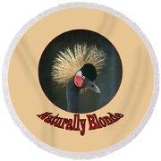 Crowned Crane - Naturally Blonde - Transparent Round Beach Towel
