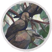 Crows Round Beach Towel