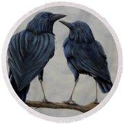 Crows Round Beach Towel