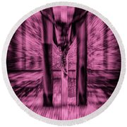 Crucified Round Beach Towel