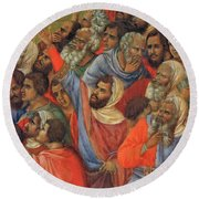 Crucifixion Fragment 1311  Round Beach Towel