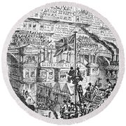 Cruikshank: London, 1851 Round Beach Towel