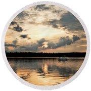 Cruising, Eagle Lake, Almaguin Highlands, Ontario Round Beach Towel