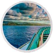 Cruising Hispaniola Round Beach Towel