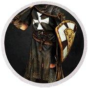 Crusader Warrior - 02 Round Beach Towel