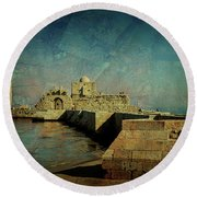 Crusaders Sea Castle Round Beach Towel