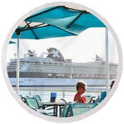 Cruse Float By Round Beach Towel
