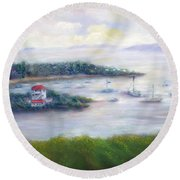 Cruz Bay Remembered Round Beach Towel
