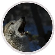 Cry In The Wild Round Beach Towel