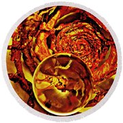 Crystal Ball Project 14 Round Beach Towel