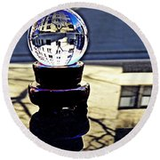 Crystal Ball Project 62 Round Beach Towel