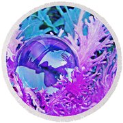 Crystal Ball Project 66 Round Beach Towel
