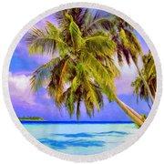 Crystal Blue Persuasion Round Beach Towel