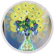 Crystal Boquet Round Beach Towel