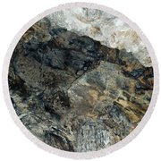 Crystal Cave Marble Ceiling Round Beach Towel
