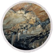 Crystal Cave Marble Round Beach Towel