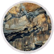 Crystal Cave Marble Sequoia Portrait Round Beach Towel