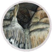 Crystal Cave Portrait Sequoia Round Beach Towel