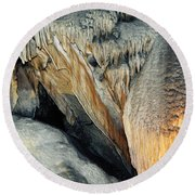 Crystal Cave Sequoia Landscape Round Beach Towel