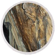 Crystal Cave Walls Round Beach Towel