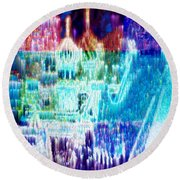 Crystal City Round Beach Towel