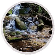 Crystal Clear Creek Round Beach Towel