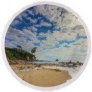 Crystal Cove Round Beach Towel